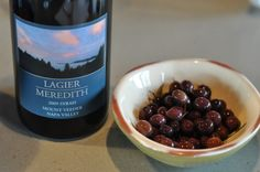 Lagier Meredith 2008 Syrah and estate olives