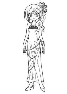 nice girl from pretty cure coloring pages for kids, printable free ... - Anime Vampire Girl Coloring Pages