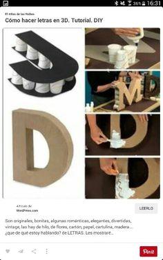 Letras hechas con basos