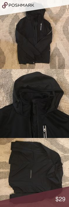 Gap fit performance jacket Excellent condition!  Fitted look, long sleeves (slender through the arms), vented back.  Cute with workout clothes or everyday outfits. GAP Jackets & Coats