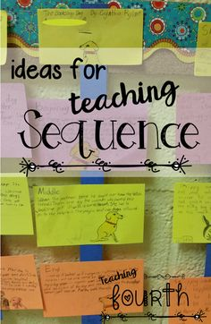 Ideas for teaching sequence. Find a link to a game, a fun and easy activity, as well as a link to a freebie!  These are such easy and simple ideas for teaching sequence.