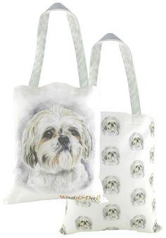 e61fd7858f Shih Tzu Waggy Dogz Tote Bag - A Bentley Cushions