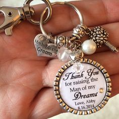 Mother of the Groom Keychain/Purse Clip, Personalized Gift, Thank You Gift, Thank you for raising the man of my dreams, Key Chain, Charm on Etsy, $24.50