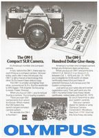 Olympus OM-1 SLR Camera 1979 Ad Picture