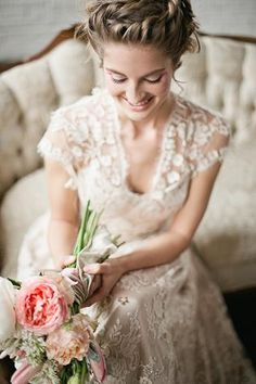 The dress, her hair- perfect. Hustle Your Bustle: Ginny Wedding Dress $4500.00 ~ Hustle Your Bustle