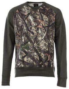 RedHead TrueTimber Crew Sweatshirt for Men - Dark Olive/TrueTimber HTC - 2XL
