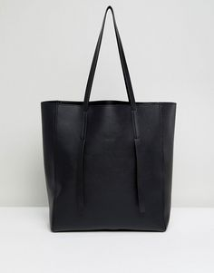 Buy ASOS Unlined Tab Detail Shopper Bag at ASOS. With free delivery and return options (Ts&Cs apply), online shopping has never been so easy. Get the latest trends with ASOS now. Shopper Bag, Tote Bag, Asos, Large Bags, Best Brand, Fashion Online, Handbags, Purses, Leather