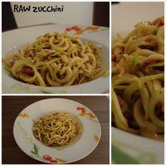 Hlavní chody Raw Food Recipes, Zucchini, Spaghetti, Ethnic Recipes, Raw Recipes, Noodle