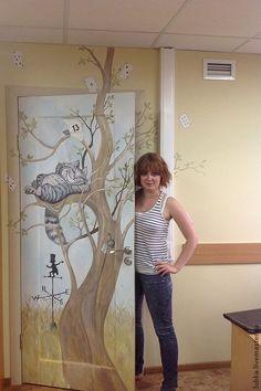 Купить Роспись дверей Алиса в стране чудес:) - роспись стен, роспись двери…