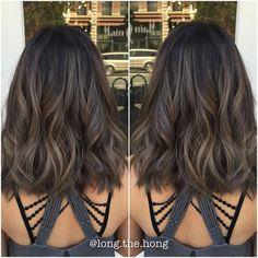Shoulder Length Hair with Smokey Ash