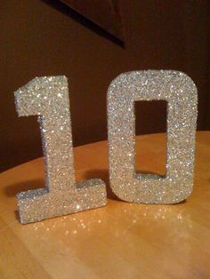 DIY glitter number how to!