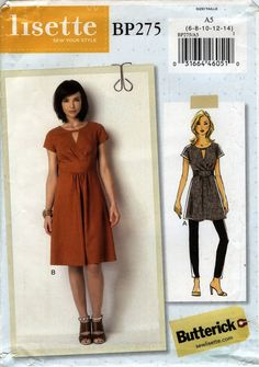Butterick 0275 Misses' Tunic and Dress