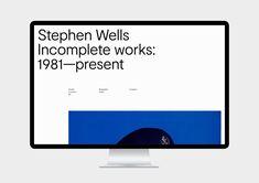 Stephen Wells identity on Behance Minimal Website Design, Website Design Layout, Web Layout, Web Design Awards, Grid Layouts, Ui Web, Black And White Design, Page Design, Grid Design