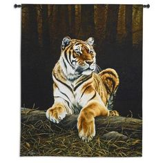 """This aptly named """"Grandeur"""" Tiger Wall Hanging designed by acclaimed wildlife artist Paul James perfectly encapsulates the regal bearing and sense of power at rest embodied by this noble big cat."""