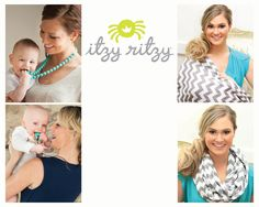 New Itzy Ritzy Items At BCNWA! Gray Chevron scarves Damask Avocado wet bags