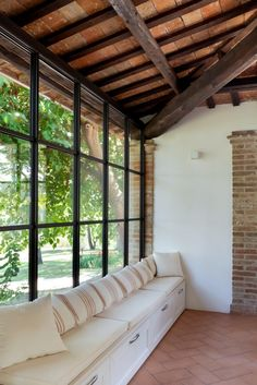 infissi-minimal (4) Steel Windows, Steel Doors, New Room, Industrial Style, Minimalism, Sweet Home, Loft, House Design, Patio