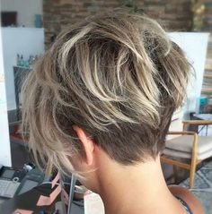Saw this cut and fell in love.  If I had thick enough hair, I'd go this short and even have my hair colored just like this.