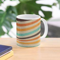 """Vintage Style Retro Stripes"" Mug by ind3finite | Redbubble"