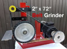 In my last video, I gave knife making a try. So I decided to make myself a belt grinder. I salvaged a lot of materials for this .