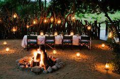 Wedding celebration decor, Lion Sands River Lodge ~ Sabi Sand Game Reserve, Greater Kruger National Park area, South Africa....