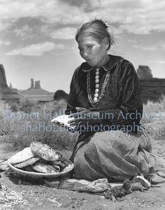 Navajo woman making fry bread, S.L., C.1940