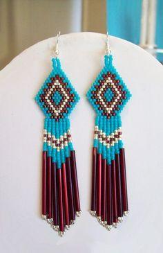 Native American Earrings by Kay Turner