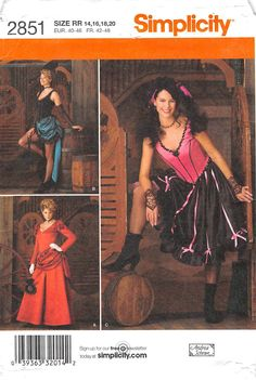 SIMPLICITY 2851 - FROM 2008 - UNCUT - MISSES COSTUME