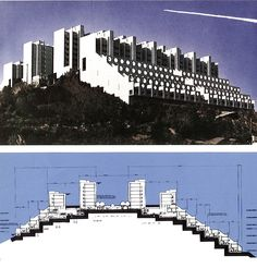 """1980-1989 GENOVA PEGLI _ COMPLESSO RESIDENZIALE PEGLI 3 ( Le Lavatrici )"""" by architect ALDO LUIGI RIZZO"""