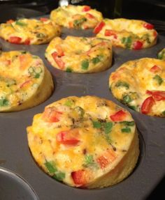 Crustless mini-quiche - Delicious!  Especially nice that you can personalize to your own liking.  Great for a family with different tastes like mine!