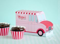 The sweetest truck has just arrived! Fill my pink, vintage bakery truck with your favorite cupcakes, donuts, or even a gift card. You can
