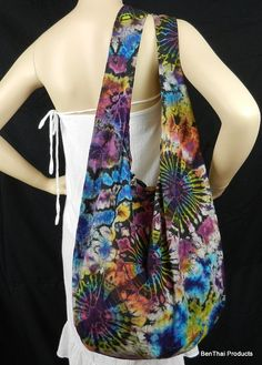 Firework Tie Dye Bag Purse Hobo Hippie Sling by BenThaiProducts, $13.99