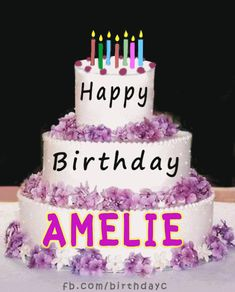 Happy Birthday Amelie Gif İmages