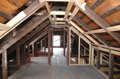 The attic space is a little low for comfort but not much we can do about it…