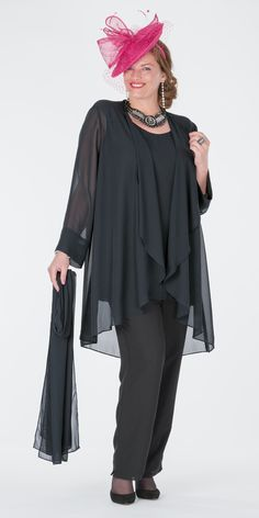 Box+2+black+chiffon+jacket,+vest+and+trouser