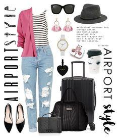 """No Check-In #airportstyle"" by mz-jill on Polyvore featuring CalPak, T By Alexander Wang, PhunkeeTree, Topshop, MANGO, adidas, Boohoo, Rebecca Minkoff, Katie Loxton and Linda Farrow"