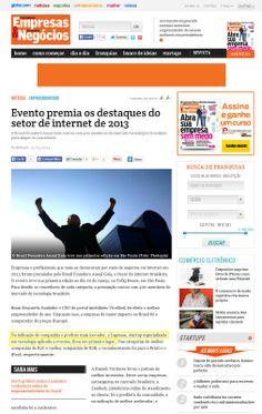 Evento premia os destaques do setor de internet de 2013