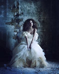 There's something about seeing beautiful gowns juxtaposed with abandoned or decrepit buildings that makes photos like these look fascinating. For the January issue of Marie Claire Turkey, photographer Ayten Alpun shoots model Kira Mazura as she comes home to her old and empty house. Somewhat haunting yet stunningly beautiful.         via [Fashion Gone Rogue]