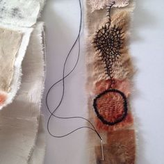 Tina Jensen Art Studio - Textile and Collage work. Creative Embroidery, Embroidery Art, Embroidery Designs, Embroidery Stitches, Fabric Art, Fabric Crafts, Fabric Books, Stitch Delight, Fibre And Fabric
