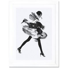 iCanvas 'Running Late' Framed Fine Art Print (2,940 MXN) ❤ liked on Polyvore featuring home, home decor, wall art, black, black wall art, framed wall art, black home decor and black framed wall art