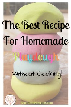 Want to make cheap easy playdough at home? Then check out this recipe for homemade playdough without cooking. It looks and feels great and is so much fun! - Education and lifestyle