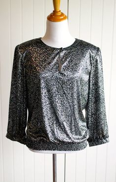 Vintage 70s Metallic Billowing Blouse By Another by TheRubyOlive, $25.00