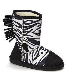 Love this Black Zebra Smart Boot by Ameta on #zulily! #zulilyfinds