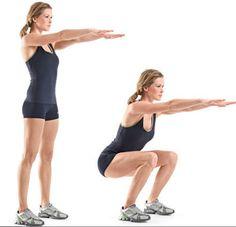 Dit is dé oefening voor het versterken van je spieren in je benen en billen. De squad is de koning van de beentraining. Je kunt de intensiteit helemaal zelf bepalen. Je kunt deze oefening bijvoorbeeld 10 keer doen en dit met een pauze van ±1 minuut 3 keer herhalen. Je kunt er voor kiezen om wat gewicht vast te houden om de belasting wat te verzwaren. Maar zoals bij iedere goede gewoonte, is consistentie belangrijker dan intensiviteit!
