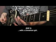 How to play Cinnamon Girl by Neil Young Guitar Song Tutorial.