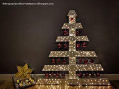 choinka i gwiazdka z palety DIY Advent Calendar, Diy, Holiday Decor, Home Decor, Decoration Home, Bricolage, Room Decor, Advent Calenders, Do It Yourself