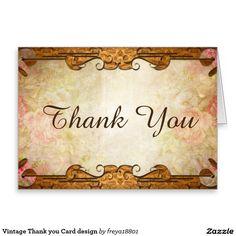 Vintage Thank you Card design