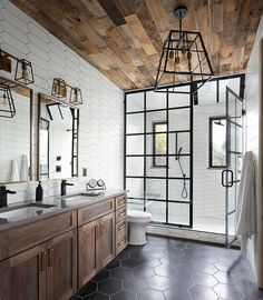 Home renovations take up a fair bit of energy and resources. They can be really taxing if you are not properly prepared and do not plan ahead.And today we take a look at the trendiest of these bathroom renovations that also usher in an air of opulence Bad Inspiration, Bathroom Inspiration, Dream Bathrooms, Beautiful Bathrooms, Luxurious Bathrooms, Master Bathrooms, Log Cabin Bathrooms, Bathroom Renovations, Home Remodeling