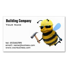 Building and Construction Business Cards. This great business card design is available for customization. All text style, colors, sizes can be modified to fit your needs. Just click the image to learn more!