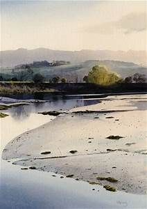 Llyn Bach, an original watercolour painting by Rob Piercy, Lakes and Rivers, Wales,Snowdonia ...