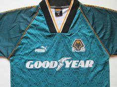Wolverhampton Wanderes 1996 1997 away football shirt by Puma Wolves England  jersey soccer 90s vintage b7059b97a